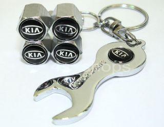 Kia Sorento Logo Emblem Wheel Tire Valve Tyre Valve Air Caps Wrench