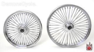 Chrome Fat Mammoth Custom Wheels 21x3 5 18x4 25 48 Spokes for Custom