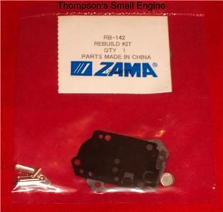 Zama RB 142 Carburetor Rebuild Kit Fits Homelite