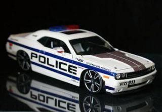 2008 Dodge Challenger Police Maisto Custom Shop Diecast 1 24 Scale