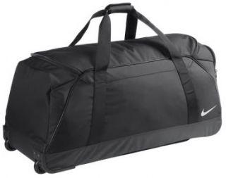 New Nike Black Wheeled Holdall Bag Travel Suitcase Team Roller Duffle