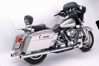Samson Caliber Chrome True Dual Stepped Dual Exhaust Harley Touring