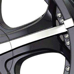 New 22X9.5 5 135/5 139.7 Gtx Gloss Black Machined Wheel/Rim