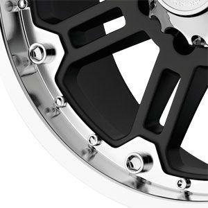 17 5 139.7 Black Rhino Rockwell Gloss Black Machined Lip Wheels Rims