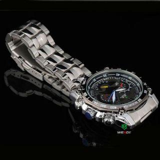 2011 Fashion Analog Mens Steel Band Dress Wrist Watch