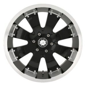 18 inch Mazzi Hulk Black Lifted Wheels Rims 8x170 F250 F350 Excursion