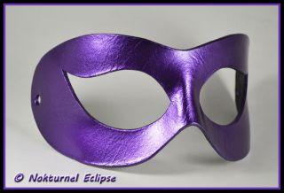 Arkham Asylum Harley Quinn Black Purple Leather Mask Batman Super Hero