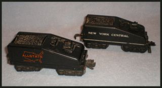 Vintage O Scale Marx Toys Railroad Steam Engine Tenders Lot of 2 Plus