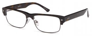 Mens Glasses Frames RX Able Thick Upper Professional Frame Brown Free