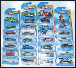 2009 2010 2011 Hot Wheels Lot 25 Cars Brand New SEALED