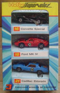 SET CORVETTE FORD MK ELDORADO HOT WHEELS REDLINE MATRIX MOLD ARGENTINA