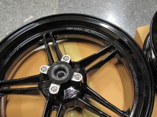 Kawasaki KSR KSR110 Front Rear Wheel Rim Black Genuine