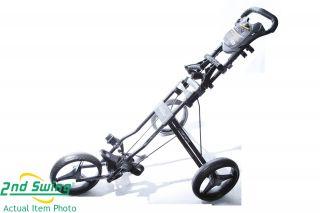 New Bag Boy Automatic 2009 3 Wheel Push Cart Black Gray Trim I