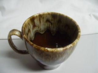 Vintage Brown Drip Coffee Mug Pottery Cup USA