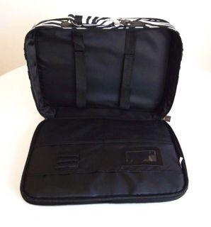 17 Computer Laptop Briefcase Travel Luggage Bag Padded Case Black