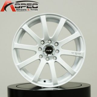17 Inovit KE10 White Wheel Fit Mini Cooper s JCW Clubman Scion XB XA
