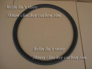 38mm Clincher Carbon Fiber Bicycle Rim