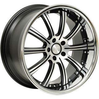 20x8.5 Machined Black Concept One RS 10 Wheels 5x112 +32 AUDI TTS TT