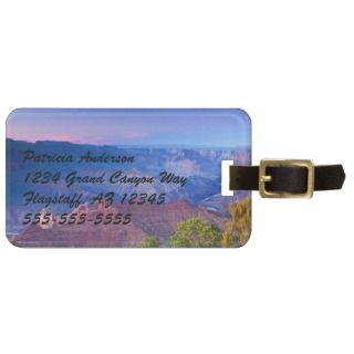 Grand Canyon South Rim Sunset Navajo Souvenir Travel Bag Tag