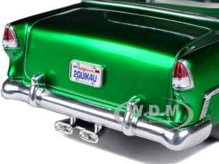 1955 Chevrolet Bel Air Metallic Green 1 18 Diecast Car Model by