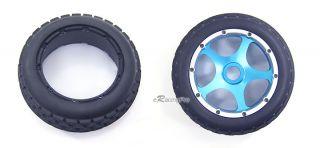 New Alloy F R Wheel Rim Tire Kit for HPI Baja 5B 5B SS