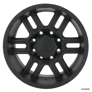 179 ion 17x8 Matte Black 7 Lug 7 on 150 mm Ford F150 250 Wheels