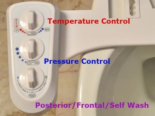 Bidet Toilet Attachment Hot Cold Water Dual Nozzle Non Electric BI2100