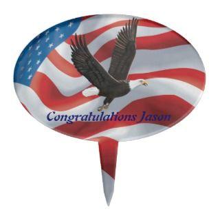 American Bald Eagle Cake Topper