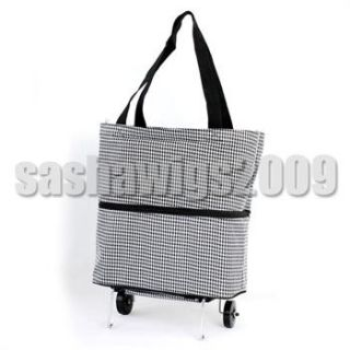 Funky Design Durable Folding Wheeled Shopping Trolley Bag Fold Away