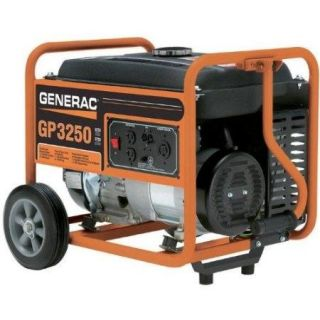Generac GP3250 3 750 Watt 206cc OHV Portable Gas Powered Generator