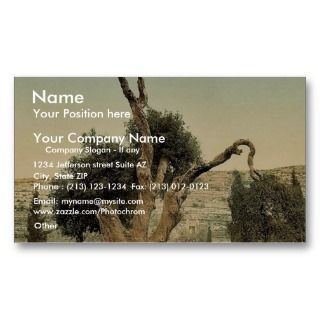 , Hebron, Holy Land, (i.e., W Business Card Template