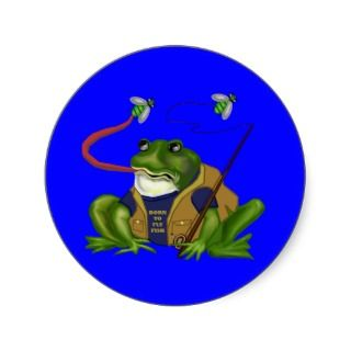 Frog Born To Fly Fish Sticker