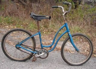 Vtg 1970s Schwinn Fair Lady Girls Bike Blue Frame Kids Bicycle 15