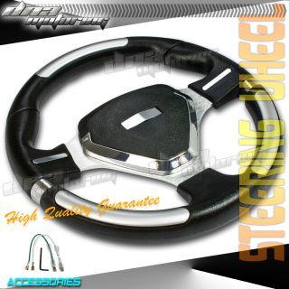 JDM Spec Black PVC Leather 320mm T220 Racing Steering Wheel Race Drift
