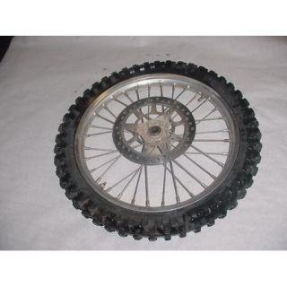 Yamaha YZ80 YZ 80 Front Wheel Tire Rim Spokes Brake Rotor Hub
