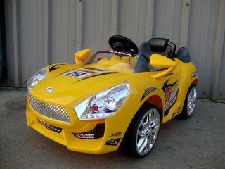 Batman Sporty Yellow Kids Ride on Power Car Wheels R C