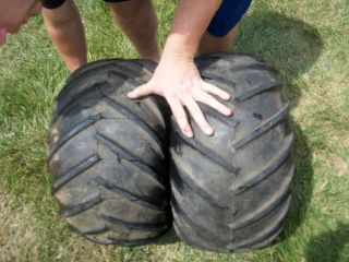 81 82 83 Honda ATC 200 Two Rear Wheel Tires Tire 2X 2