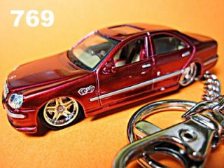 Mercedes Benz W220 Key Chain Ring Fob s Class S55 M Red
