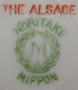 Noritake China The Alsace Pattern Bread Plate Trim Wear
