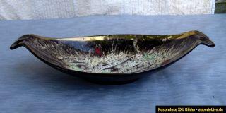 Vintage German 50s Fat Lava Art Pottery Scheurich Bowl Mid Century