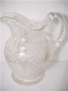 Antique Georgian Cut Glass Water Jug C1820