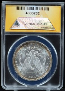1884 Morgan Silver Dollar ANACS MS65 Gem
