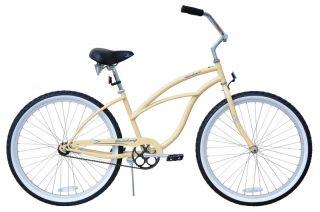 New 24 Beach Cruiser Bicycle Bike Urban Vanilla