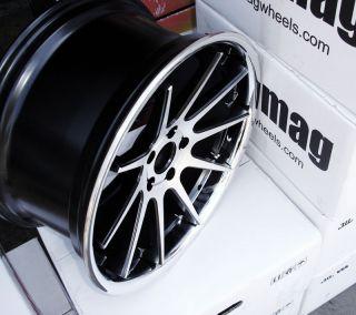 19 inch Rims BMW Wheels Euromag EM10 325 328 330 335 Blackmachchrlip