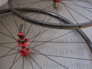 Carbon Wheels 24mm Tubular Carbon Road Wheelset