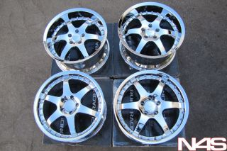 Infiniti G35 Mustang SC430 Ruff Racing 279 Chrome Wheels Rims