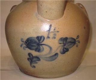 Antique Van Schoick Dunn New Jersey Stoneware Batter Jug