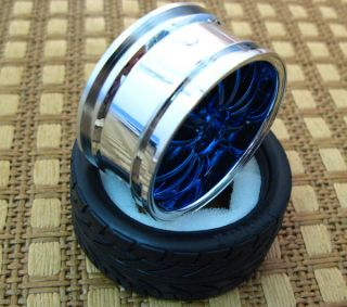 PCS Tires + Wheel Rim Rubber Sponge Liner Tires 1/10 RC On Road Car