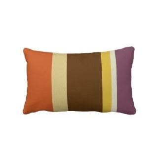 Striped Throw Pillow   Fat Stripes (Burnt Orange)