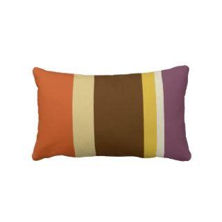 Striped Throw Pillow   Fat Stripes (Burnt Orange)